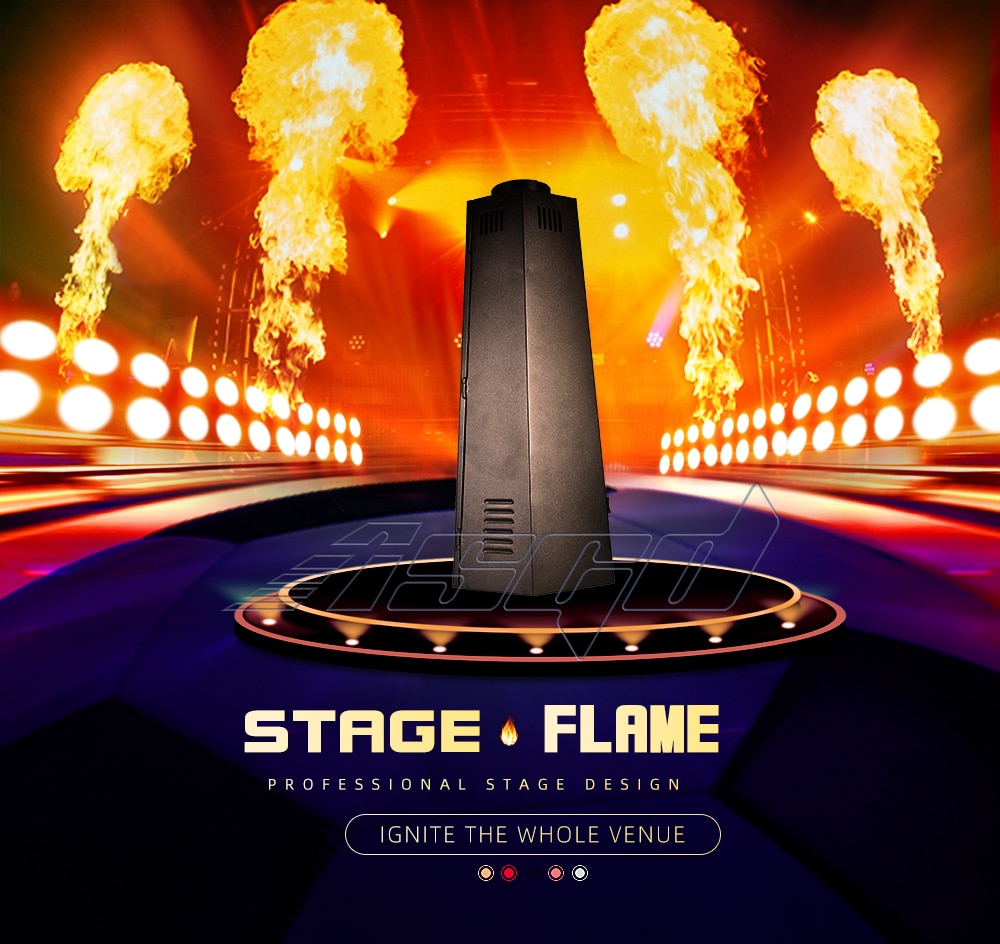 Stage Flame Jet Machine DMX 200W Fire Spray Projector Hexagon DJ Gas Fuel For Outdoor Indoor Theater Show Celebration Bar ASGD