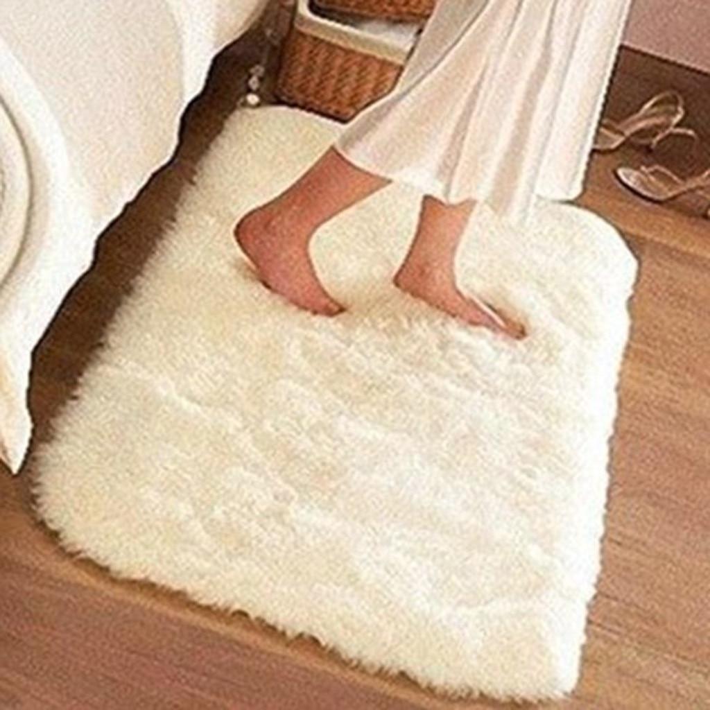 Faux Fur Floor Rug Super Soft Non-slip Fluffy Furry Plush Area Rug for Bedroom Living Room Rectangle Carpet Alfombras Dormitorio