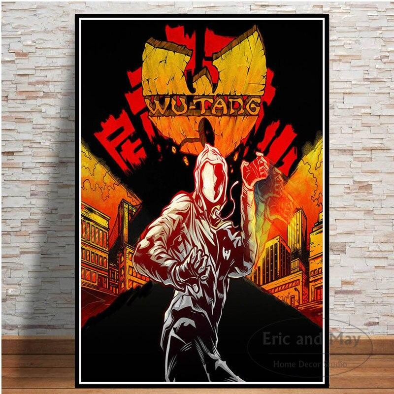 ポスターやプリント呉ウータンクラン呉唐 36 室ラップキャンバス絵画壁の写真ルーム装飾家の装飾