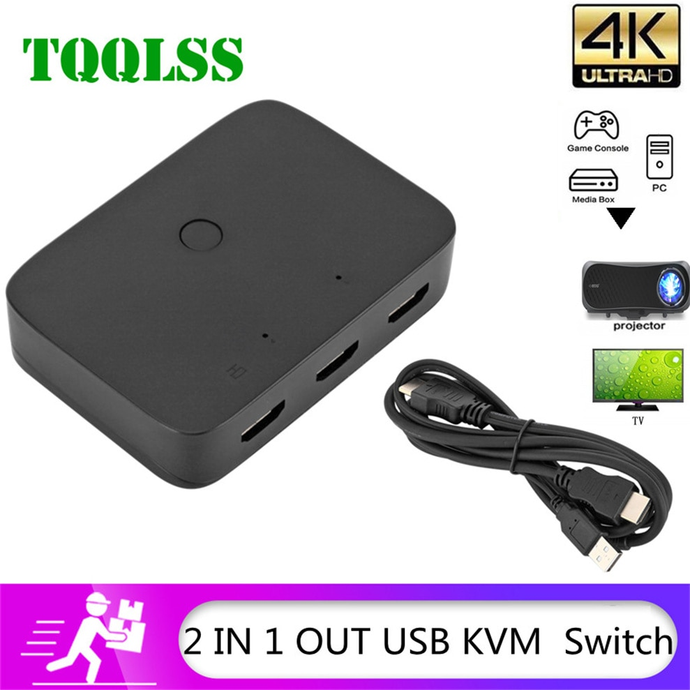 mt viki 8 port dvi kvm switch mouse and keyboard sharing 8 hosts share 1 monitor press the key to switch manually mt 2108dl TQQLSS USB Sharing KVM Switch Switcher 2 Port HDMI  Switch Box USB 2.0 Mouse Keyboard Printer Switch for 2 computer Share kvm