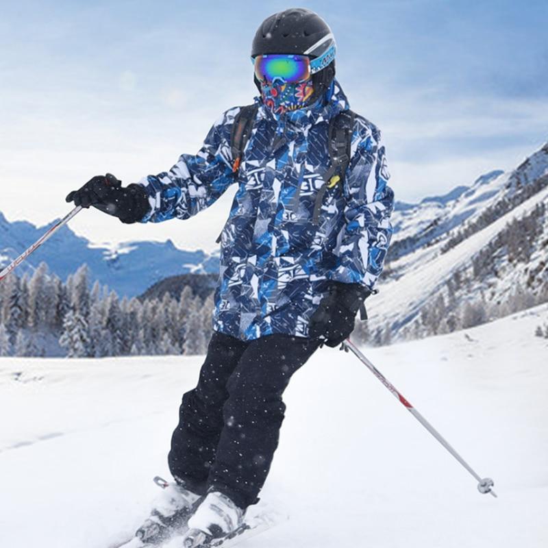 ملابس تزلج شتوية للرجال, ملابس تزلج شتوية للرجال سميكة قابلة للتنفس ، سترة مقاومة للماء ومقاومة للرياح ، سراويل رياضية للثلج
