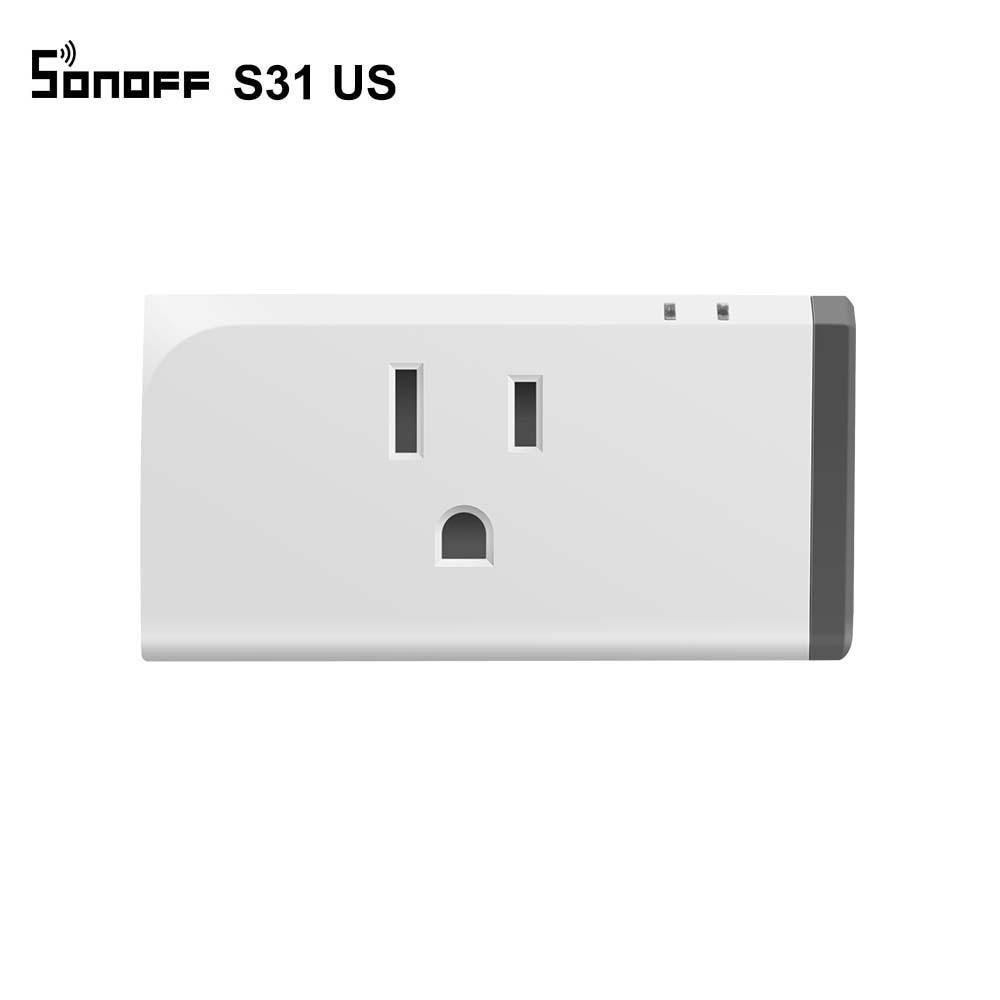 Sonoff s31 inteligente wifi soquete monitor de energia funciona com alexa google assistente casa