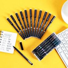12 Pz/set penna gel cancellabile penne nero sveglio kawaii canetas scuola forniture di cancelleria coreano fermo papelaria materiale escola