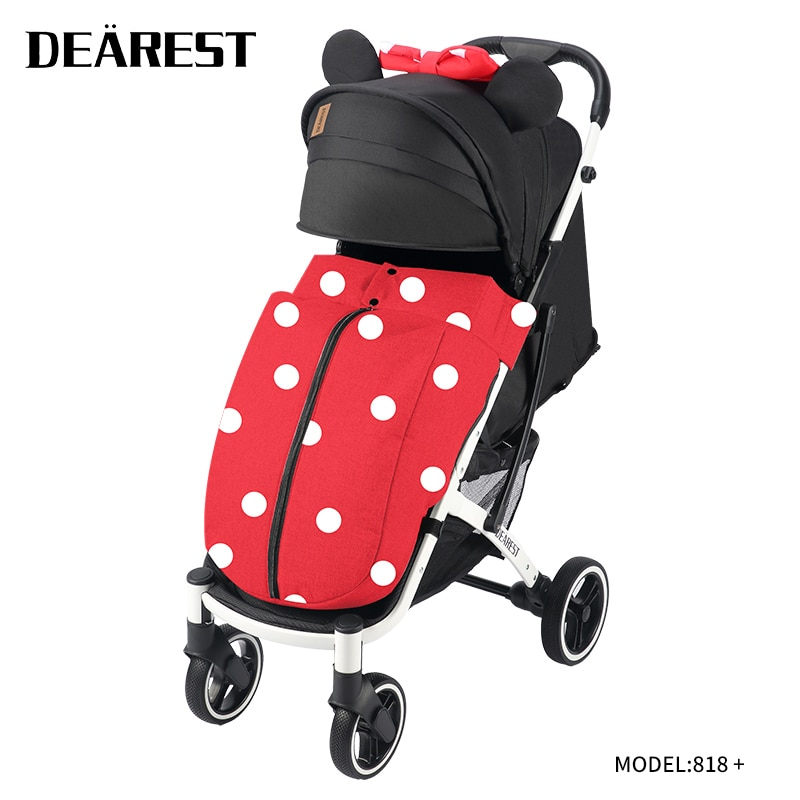 Dearest818 + Baby Stroller Baby High Landscape Stroller Pu Big Wheel Shock Absorber Accelerate Transport
