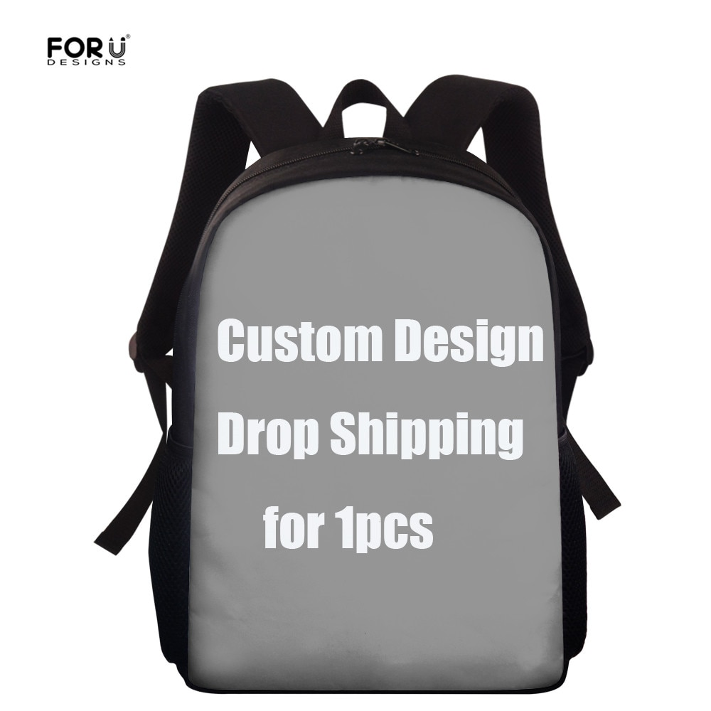 FORUDESIGNS Custom Image/Logo/Name Kids Girls Boys School Bags Fashion Schoolbags 15 Inch Book Shoulder Bags Student Orthopedic