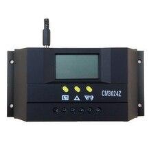 CM3024Z 12V/24V 30A Solar Controller LCD Genetator PWM Plug In Regulator Voltage Charge Mode