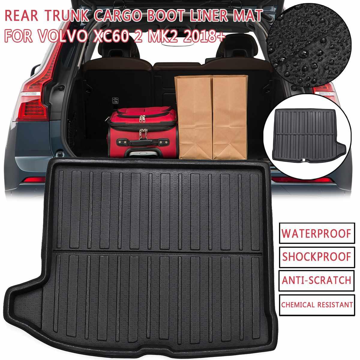 Bandeja protectora de suelo para Volvo XC60 2 MK2 2018 2019 2020 + bandeja de equipaje para alfombra de suelo