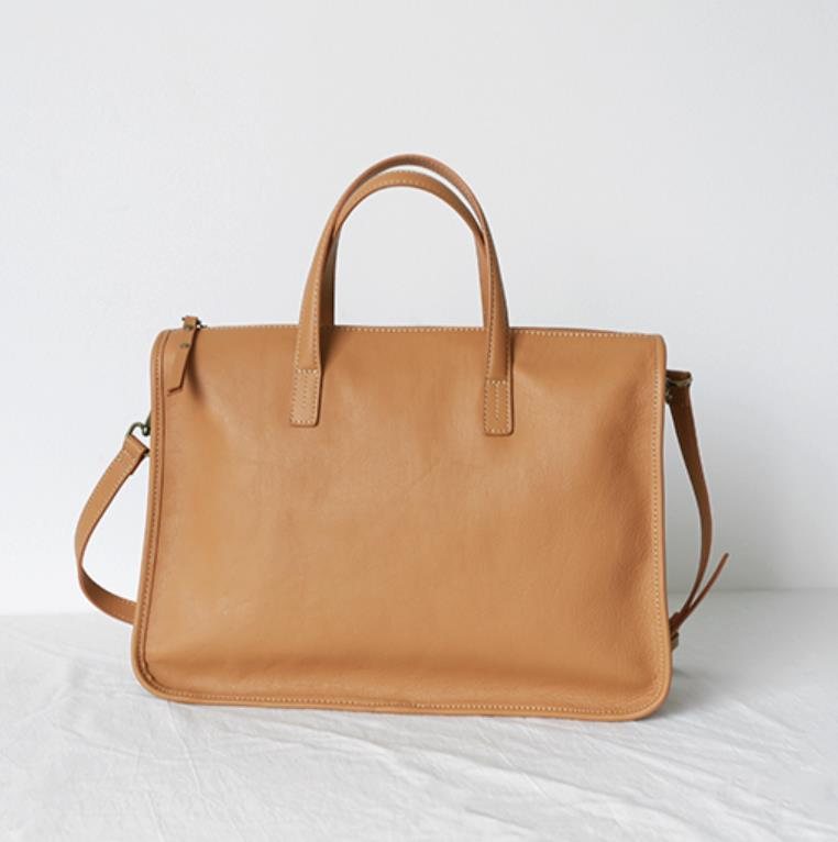 Briefcase ladies leather 2021 new business commuter fashion first layer coin-leather large volume simple lady handbag
