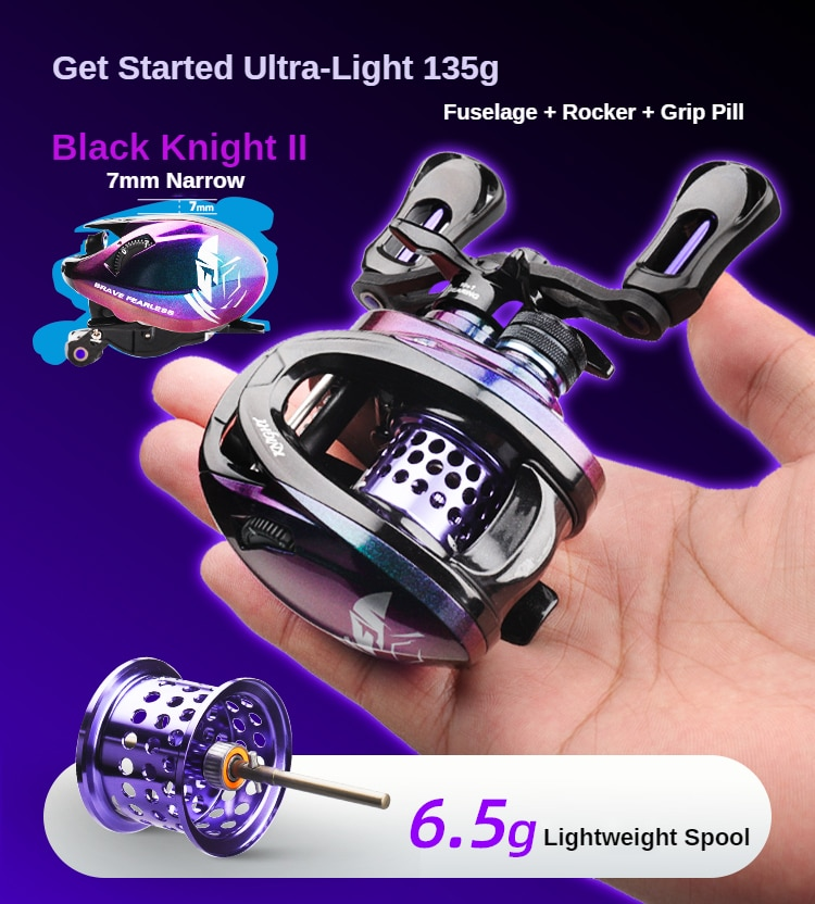 2021 New 135g BLACK KNIGHT2 6.9g Spool Ultralight BFS FINESSE Baitcasting Reel Baitcaster Fishing Coil For Shad Trout Reels enlarge