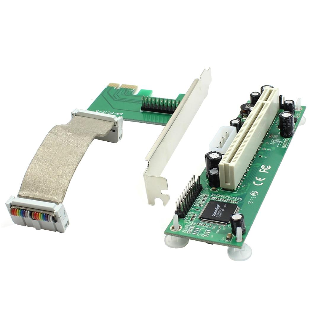 PCI-E PCI Express a PCI adaptador Cable Flexible Mini PCI-E 1x a 16x extensor de tarjeta de cinta para minero de Bitcoin