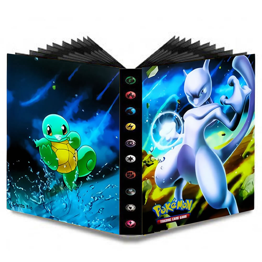 240pcs Cartoon Pokemones Cards Album Book Album Pokemon Collections Toys Holder Binder Folder Children Top Loaded List Toys Gift