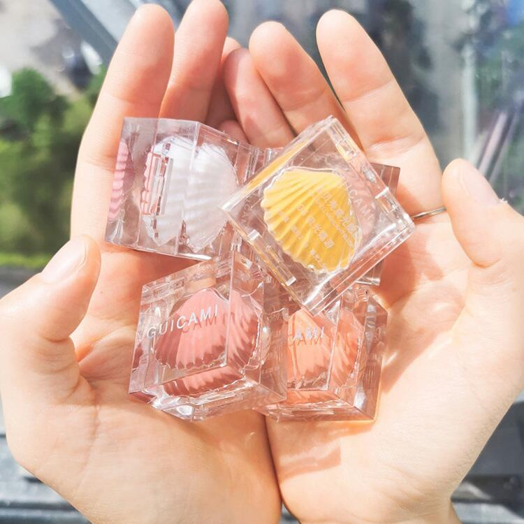 New Up Makeup Highlighter blush Small Ice Cube Shell High Gloss Blush One Plate Mashed Potato Rouge Brightens Repairs Trimming