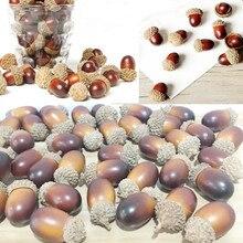 5/10Pcs Artificial Mini Acorn Fruits Oak Foam Nut Ornaments Rustic Wedding Party Decor Xmas Tree Christmas Decorations for Home