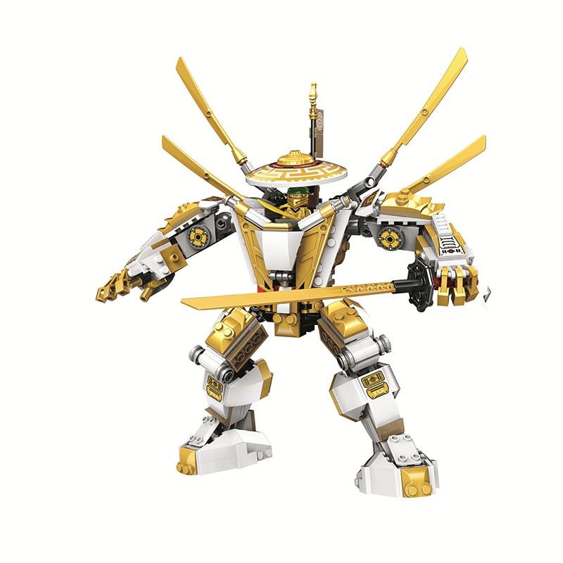517pcs Compatible 71702  NINJA Golden Mech Kai Jay Cole Zane Lloyd ninjagoingly anime action Figures building Blocks bricks toys