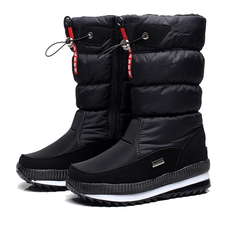 Women snow boots platform winter boots thick plush waterproof non-slip boots fashion women winter shoes warm fur botas mujer