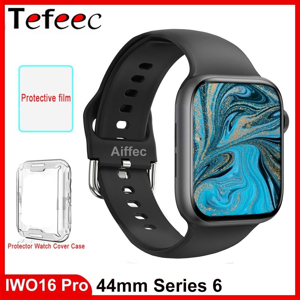 IWO 16 برو ساعة ذكية سلسلة 6 44 مللي متر ساعة بلوتوث دعوة جهاز تعقب للياقة البدنية الرجال النساء W66 الرياضة smartwatch VS IWO 14 13 زائد W56