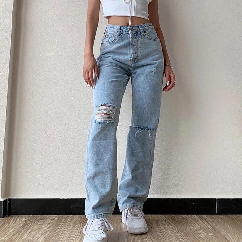 Broek Women's Jeans Big Mate Friend Jean Women Cut Jeans Broek High Tail Mom Jeans Undefined Stright Broek