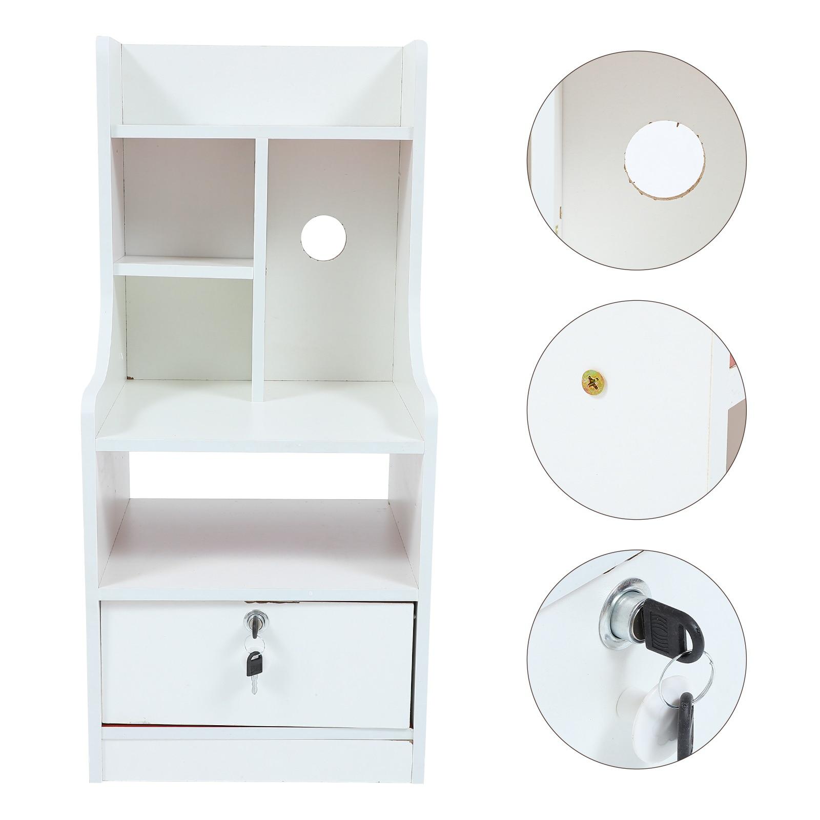 1 قطعة خزانة بجوار السرير بسيط السرير الجدول الأبيض منضدة أثاث غرفة نوم