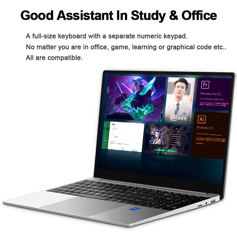 Directly factory supply cheap gaming 15.6 Inch laptop computer pc for sale