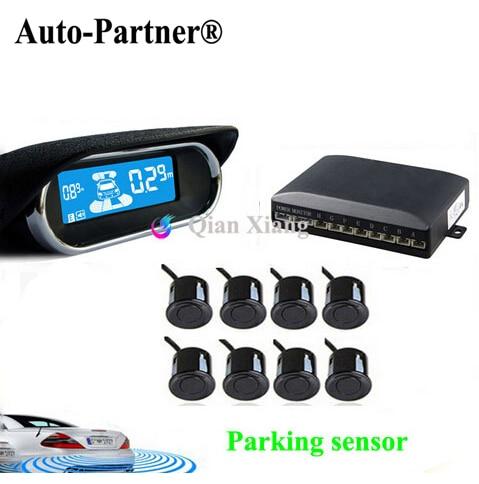 parking-sensors-8-rear-front-view-reverse-backup-radar-kit-system-electronics-accessorieslcd-display-monitor