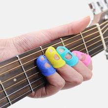 4 Uds guitarra Protector para punta del dedo Fingerstall de cuerda de guitarra dedo protección prensa accesorios para ukelele Guitar7