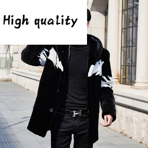 Mink Natural Fur Coat Men Winter Jacket Hooded Real Fur Coat Fashion Warm Luxury Mens Mink Jackets 2020