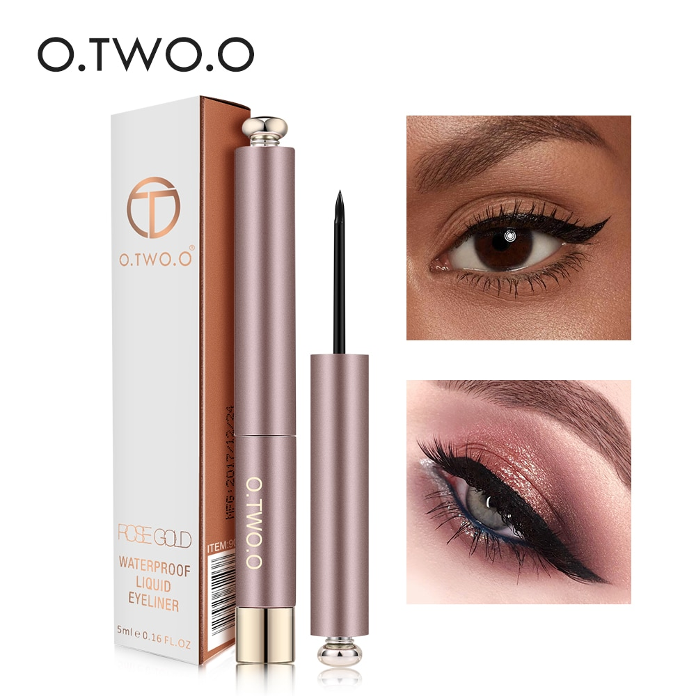 O.TWO.O Liquid Eyeliner Pencil Waterproof Black Eye Liner Pen Long Lasting Super Slim Eye Liner Pencil Quick Dry Eyes Makeup Kit недорого