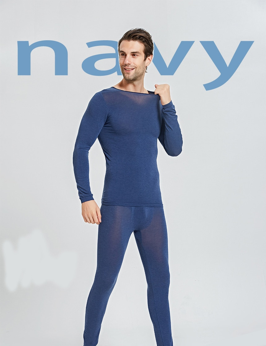 Hot Sells Men's Ultra-thin Thermal Underwear Three Seconds Heat Tight Thermal Underwear No Trace Low