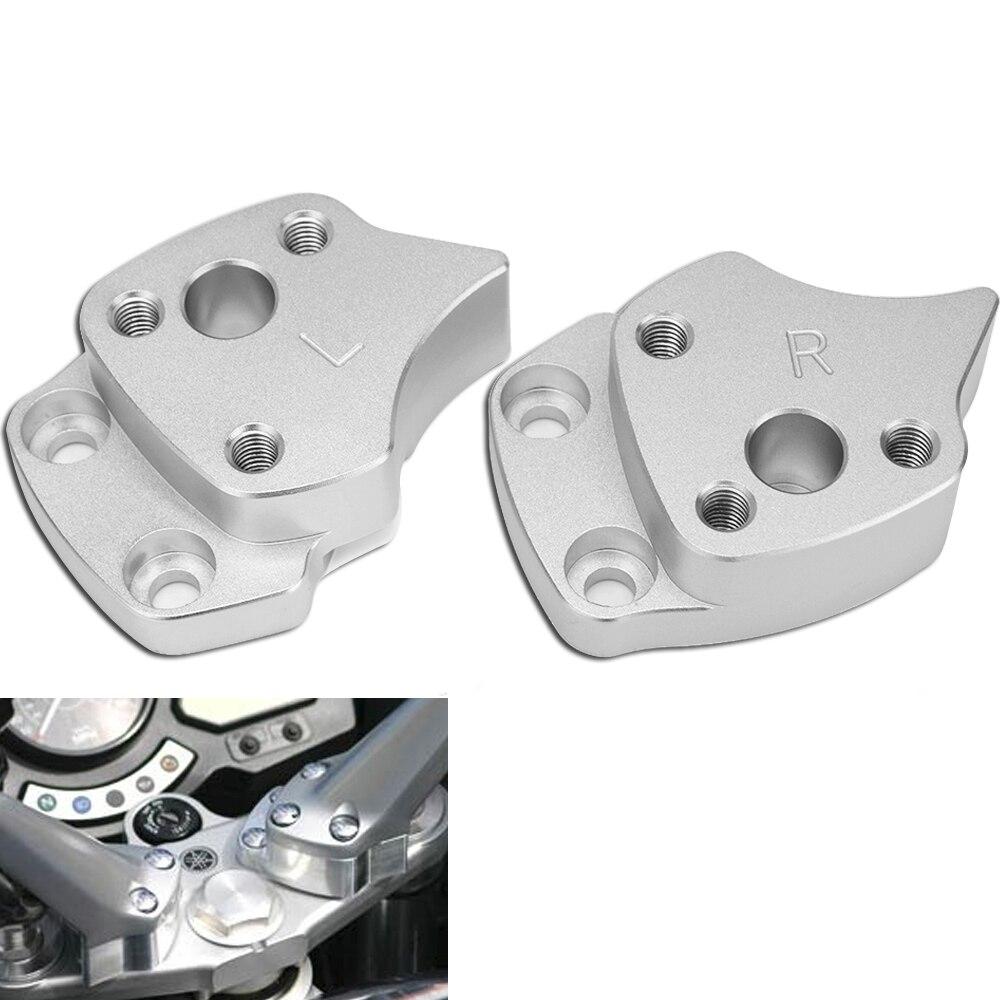 25mm Handlebar Riser For Yamaha FJR1300 FJR 1300 2001 2002 2003 2004 2005 Silver Handle Bar Risers Motorcycle Accessories