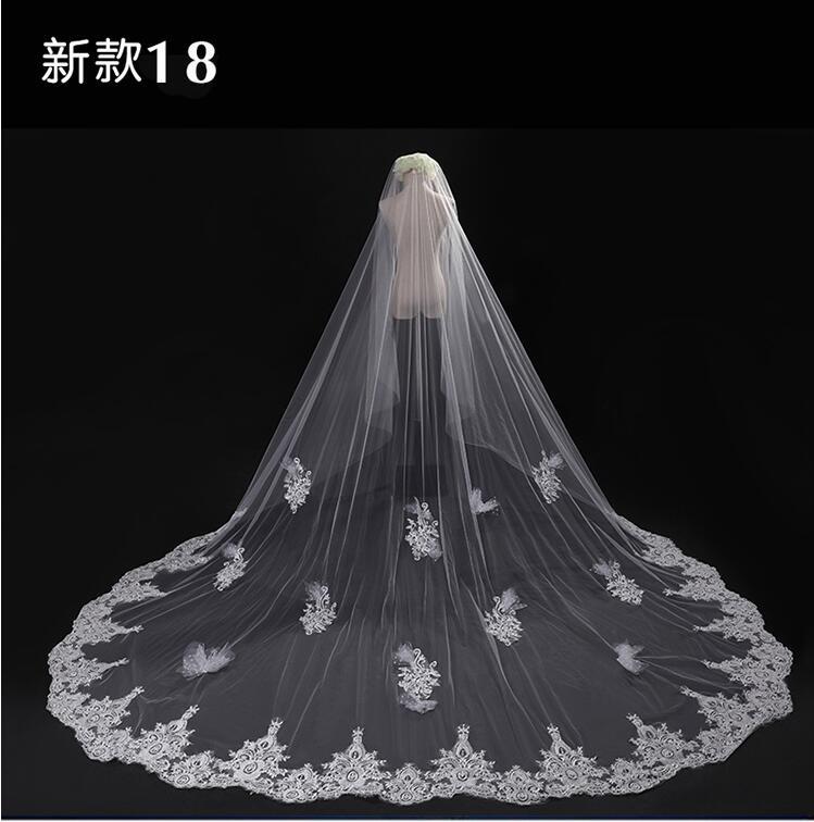 Velo de novia velo largo de novia velo de encaje velo para boda 3d velo de flores