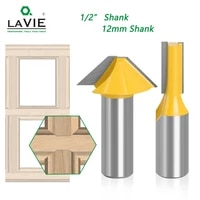 lavie 2pcs 12mm 12 carbide tenon cutting bits knife flat bottomed v shape milling cutters router bit for wood door window 027