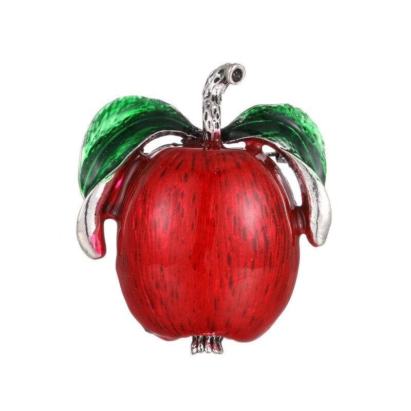 E os estados unidos o novo gotejamento apple alta qualidade esmalte broche velocidade vender através de amazon frutas corsage, roupas
