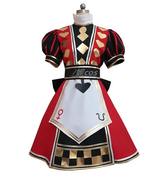 Disfraz de Alicia: Madness Returns, atuendo de póker, Cosplay personalizado de cualquier...
