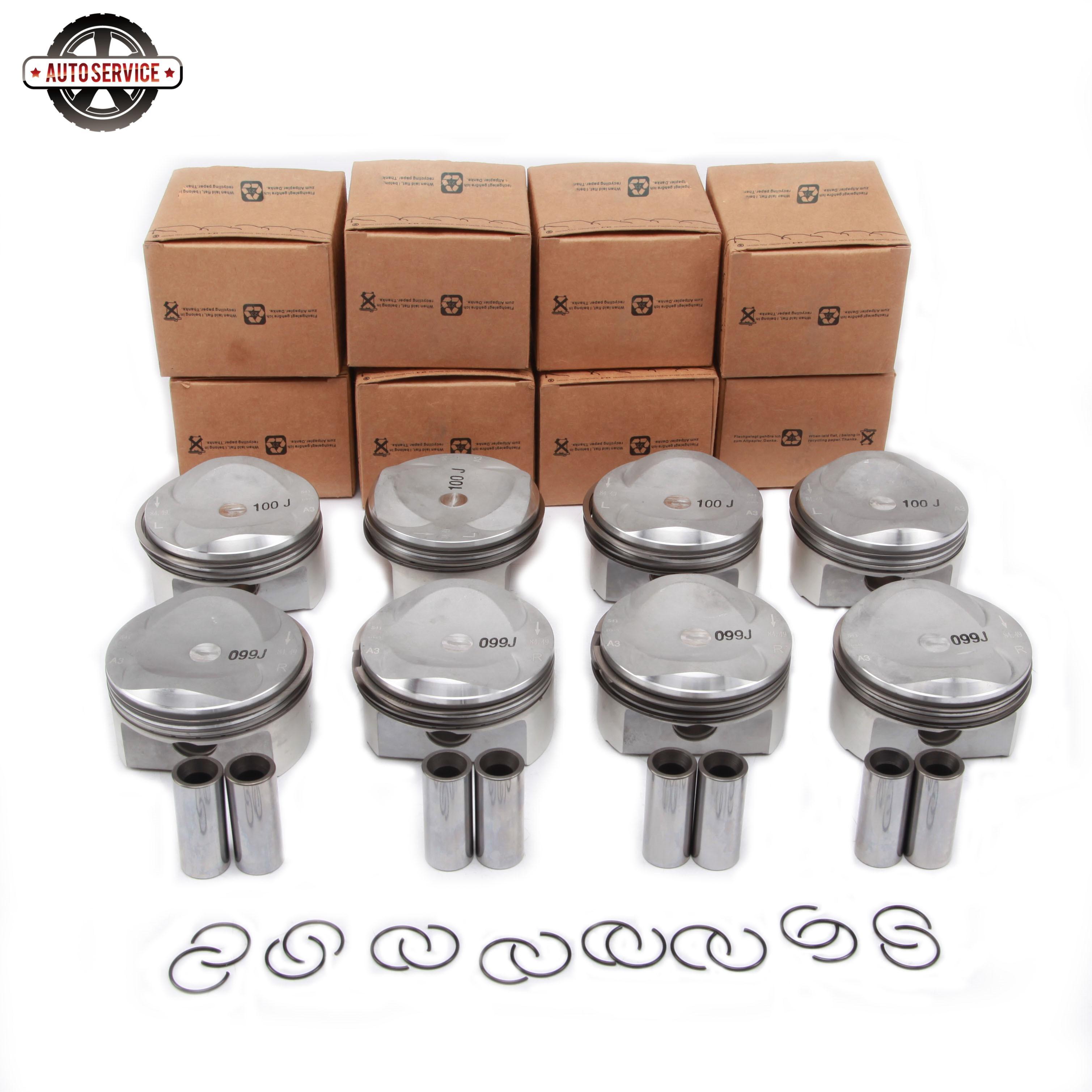 Nuevo 079 107 065 DC motor de pistón y anillos Kit para Audi A6 A5 A8 Q7 Avant Quattro Volkswagen Touareg Volkswagen 4.2L perno 20 mm 079 107 066 DC