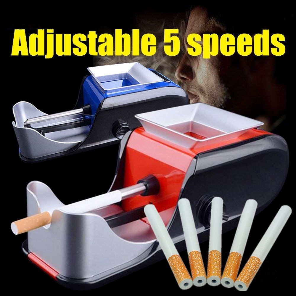 AliExpress - Cigarette Rolling Machine Electric Automatic Maker Tobacco Roller Cigarette Shape Metal Pipe Smoking Accessory One Hitter Tobacc