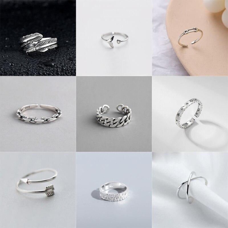Очаровательные-винтажные-серебряные-кольца-с-геометрическим-рисунком