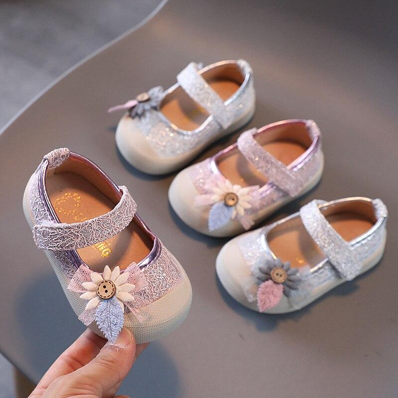 Детская обувь, весна и осень, обувь принцессы для девочек, женская обувь, детская обувь на мягкой подошве, обувь для малышей