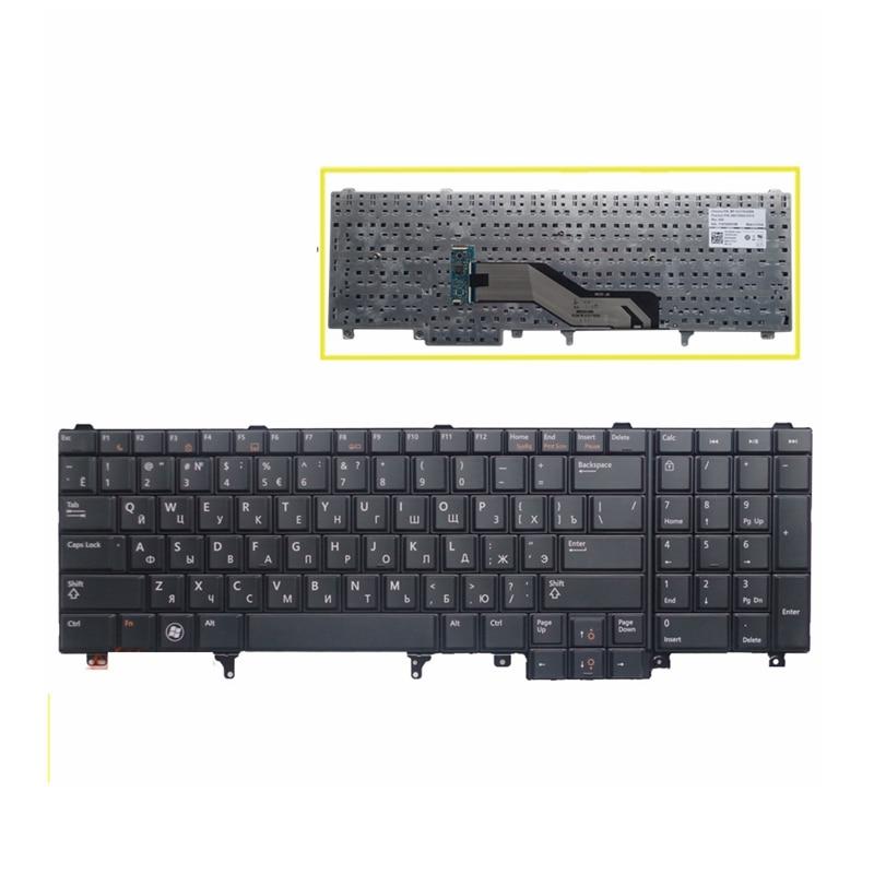 Nuevo Teclado ruso para ordenador portátil DELL E6520 Teclado E6530 E6540 E5520 E5520M E5530 negro