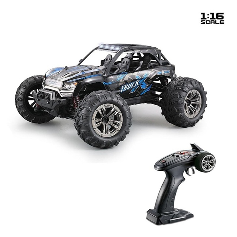 Xinlehong 9137 1/16 2.4G 4WD 36km/h RC Car W/ LED Light Desert Off-Road High Class Truck RTR Remote Control Off-road Car Toy