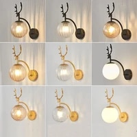 antler glass led wall lamp living room bedside lamp stair walkway wall lamp room decoration wall decoration wall lamp e27
