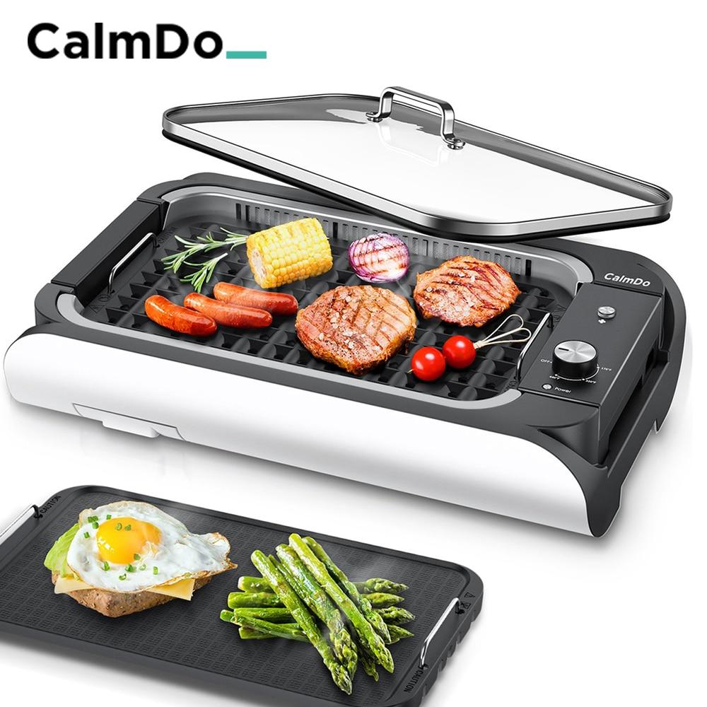 Барбекю-гриль Calmdo 1000 Вт, бытовая кухонная техника, барбекю-машина, гриль, электрическая плита, Бездымная жаровня, сковорода для мяса