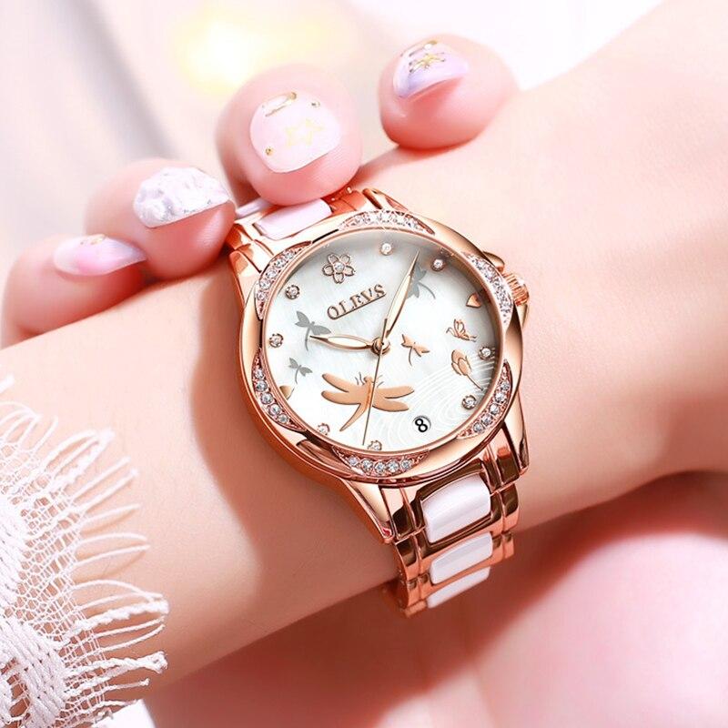 Switzerland Top Luxury Brand Watches Women Automatic Mechanical Ceramic Diamond Waterproof Ladies Watch Gifts Relogio Feminino enlarge