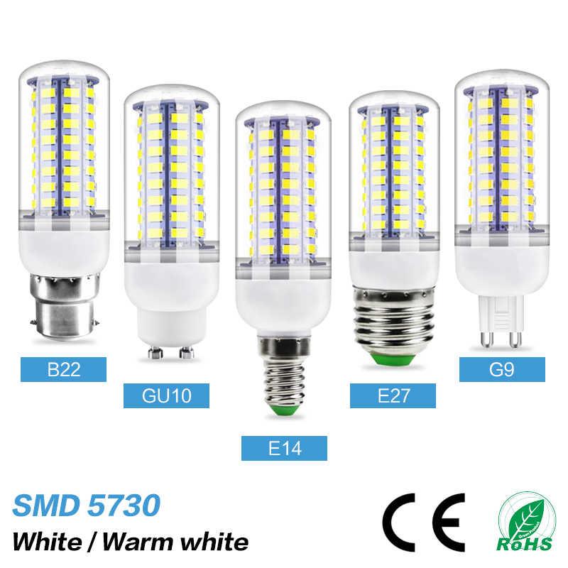E27 Led Lamp E14 Led Bulb Gu10 Corn Lamp B22 Chandelier Lighting G9 Led Candle Light Smd5730 220v 24 36 48 56 69 72leds Light Led Bulbs Tubes Aliexpress