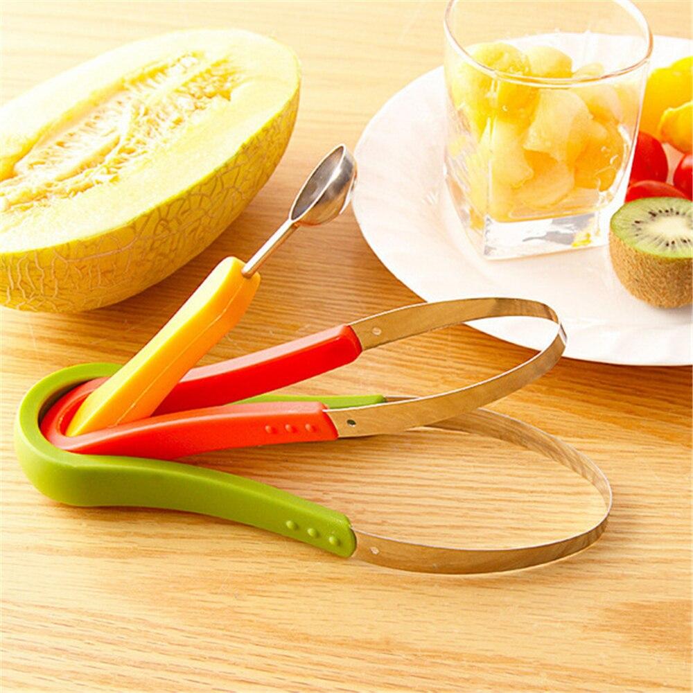3 unids/lote bandeja de fruta creativa multifunción tallada excavar el dispositivo de Control de bolas Control de tres piezas de herramientas de carne