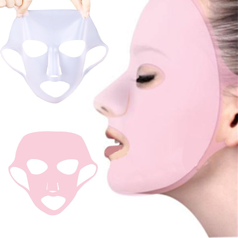 6/5/4PCS Silicone Mask Reusable Cover Face Skin Care Hydrating Moisturizing Mask for Sheet Prevent Evaporation Steam Skin Care