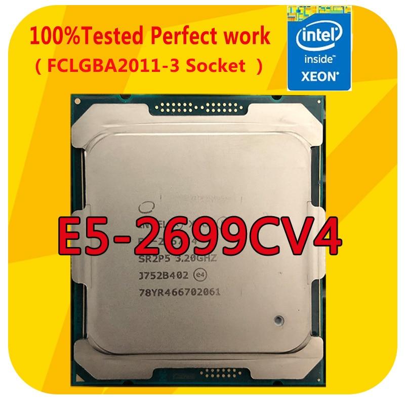 E5-2699CV4 إنتل زيون E5-2699CV4 2.2 جيجا هرتز 22 النوى 55 متر الذكية مخبأ معالج وحدة المعالجة المركزية LGA2011-3 ل اللوحة x99
