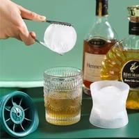 ice hockey mold frozen ice cube ice hockey ice tray silicone whiskey ice mold household ice maker diy round ball making small