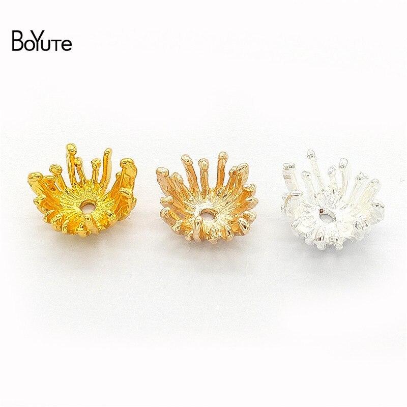 Boyute (100 peças/lote) liga de metal 13.5mm estame flor pistil vintage diy feito à mão jóias acessórios peças