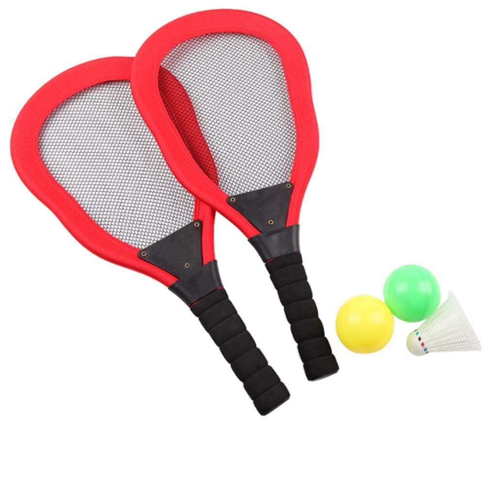 5pcs Sports Toy Children's Cloth Art Tennis Racket Badminton Beach Racket Kids Outdoor Supplies