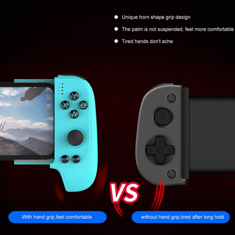 Telescopic Bluetooth-compatible Game Controller Wireless Gamepad Trigger Joystick For PUBG Mobile IOS Android PC TV Box Joypad enlarge